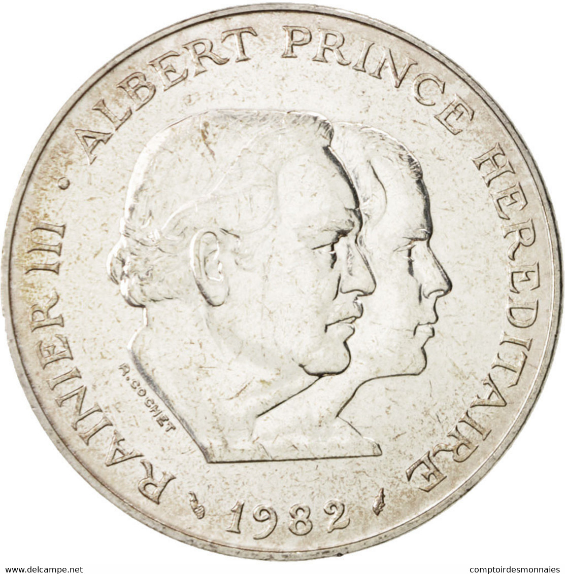 Monaco, Rainier III, 100 Francs, 1982, SPL, Argent, KM:161 - Monaco