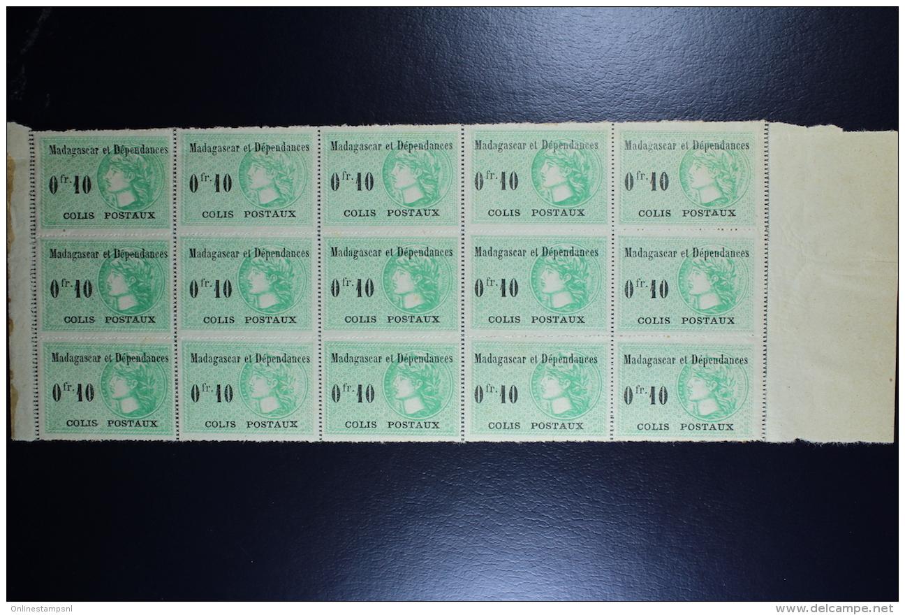 Madagascar: Colis Postaux Yv  5 Block De 15 MNH/**/postfrisch/neuf Sans Charniere 1919 - Neufs