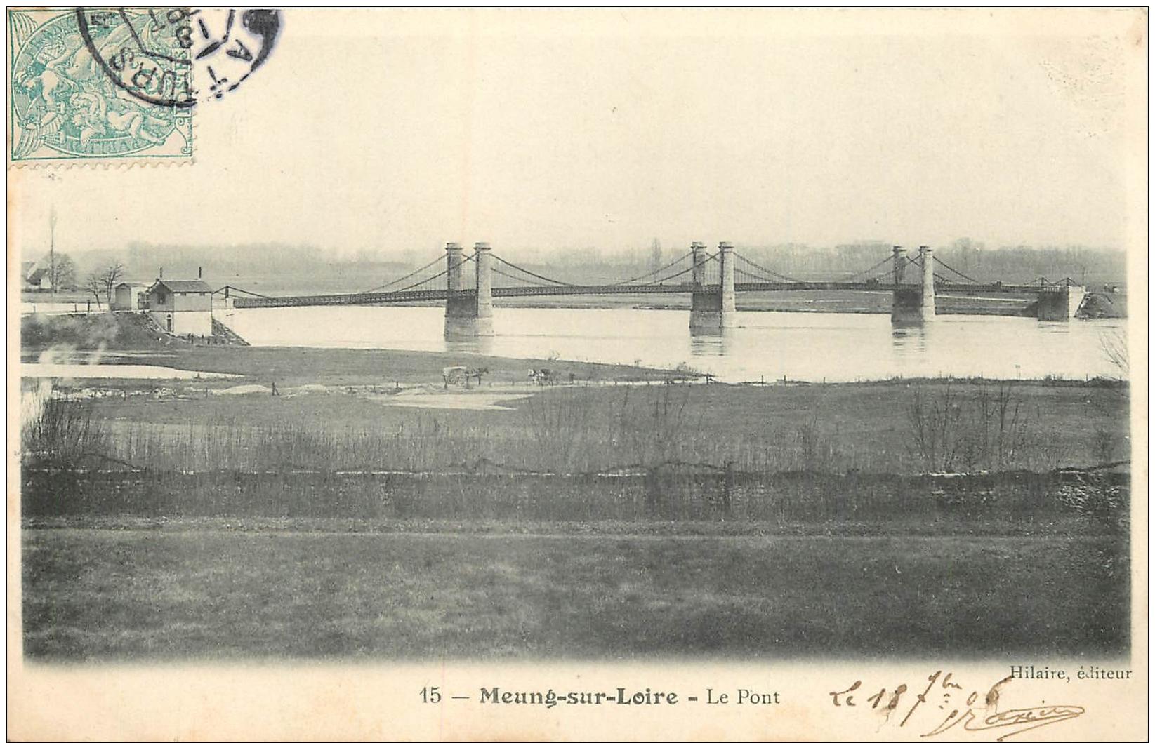 45-752  CPA Original   MEUNG SUR  LOIRE  Le Pont      Belle Carte - Francia
