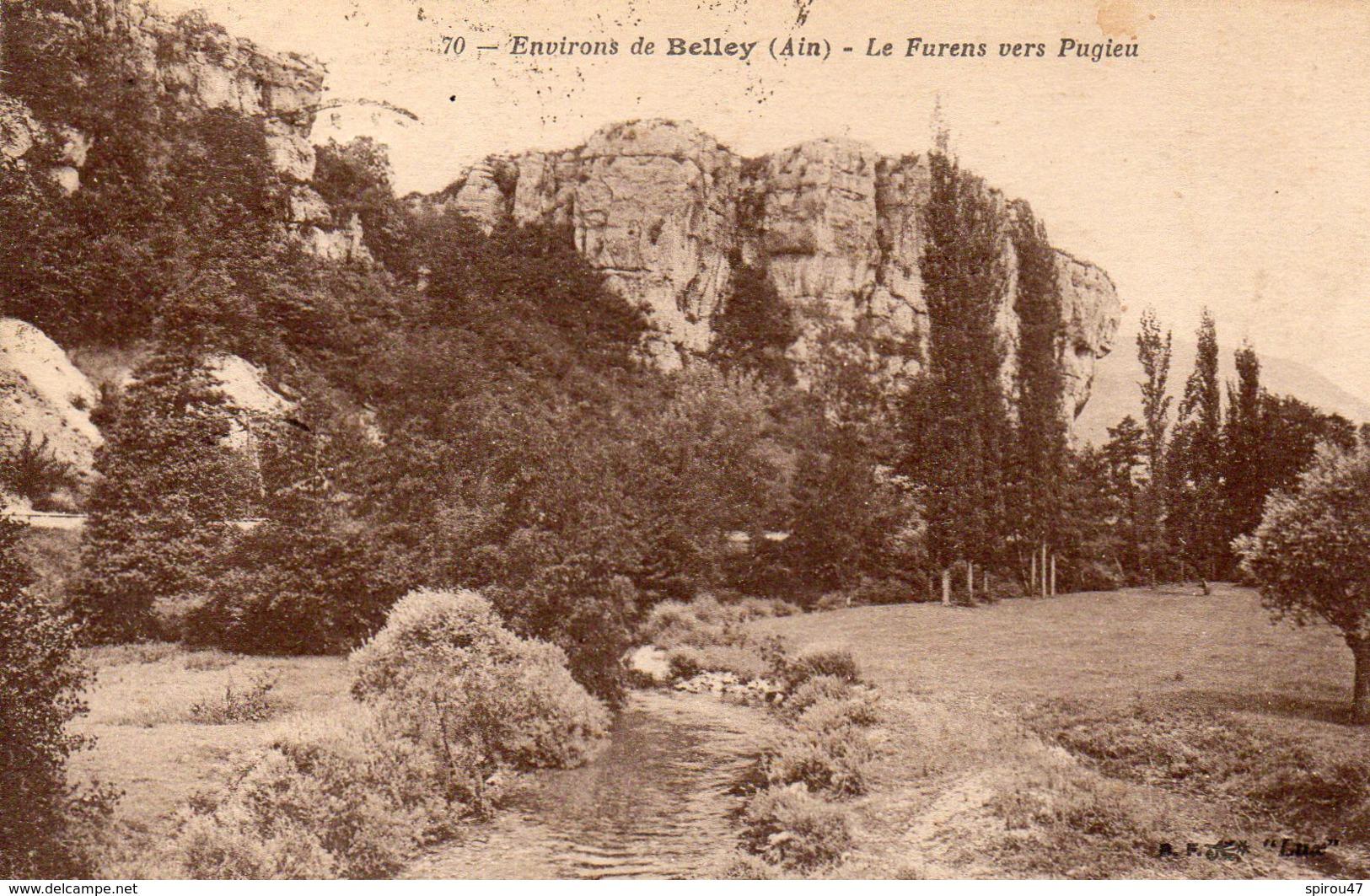CPA ENVIRONS DE BELLEY - LE FURENS VERS PUGIEU - Frankrijk