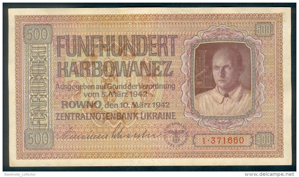 Deutsche Besatzung, German Occupation - Ukraine, 500 Karbowanez, UNC, Ro. 599, Rare, 1942 ! - [ 4] 1933-1945: Derde Rijk