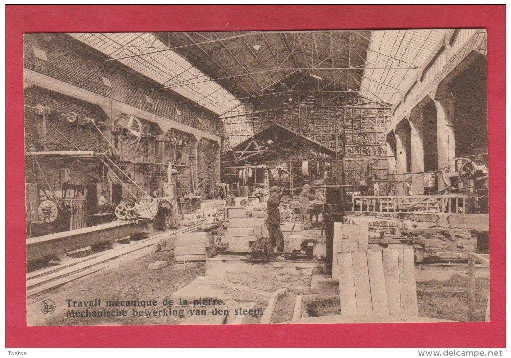 Soignies - Carrières Du Hainaut - Travail Mécanique De La Pierre ... Atelier, Ouvriers ( Voir Verso ) - Soignies