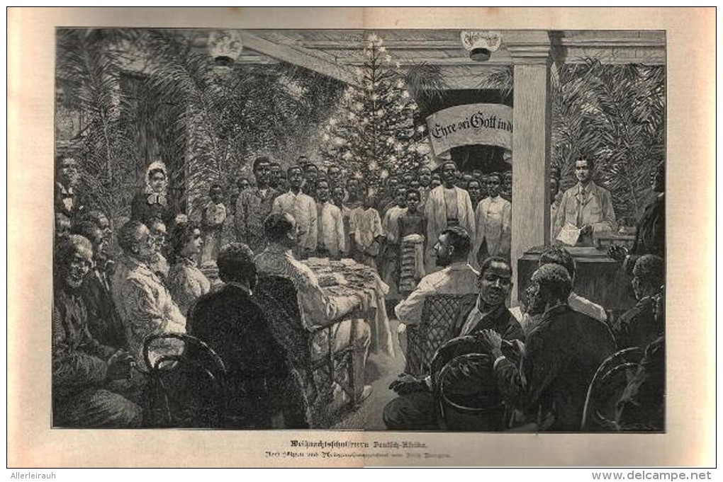 Weihnachtsfeier In Deutsch-Afrika  /  Druck, Entnommen Aus Zeitschrift /1896 - Bücher, Zeitschriften, Comics