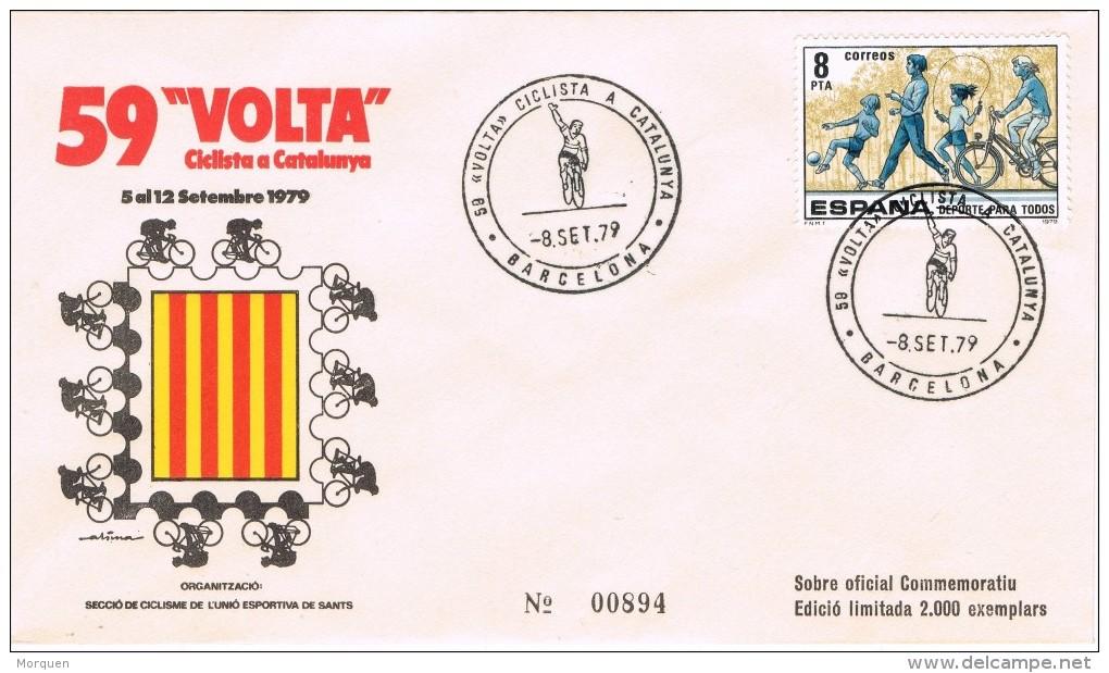 20252. Carta BARCELONA 1979, 59 Volta Ciclista, Ciclissmo - 1931-Hoy: 2ª República - ... Juan Carlos I