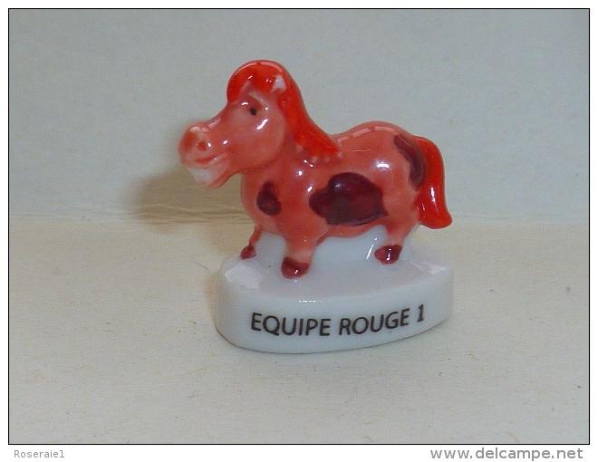 FEVE LE JEU DE PTITS CHEVAUX, EQUIPE 1 ROUGE - Fèves