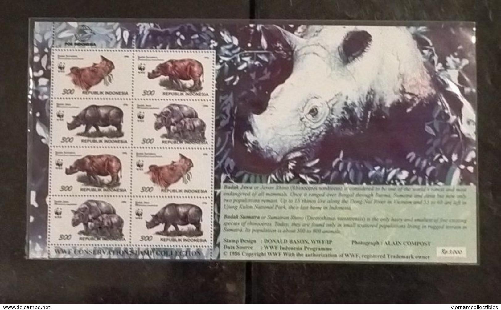 (WWF-205) W.W.F. Indonesia Rhino MNH Perf Sheetlet 1996 - W.W.F.