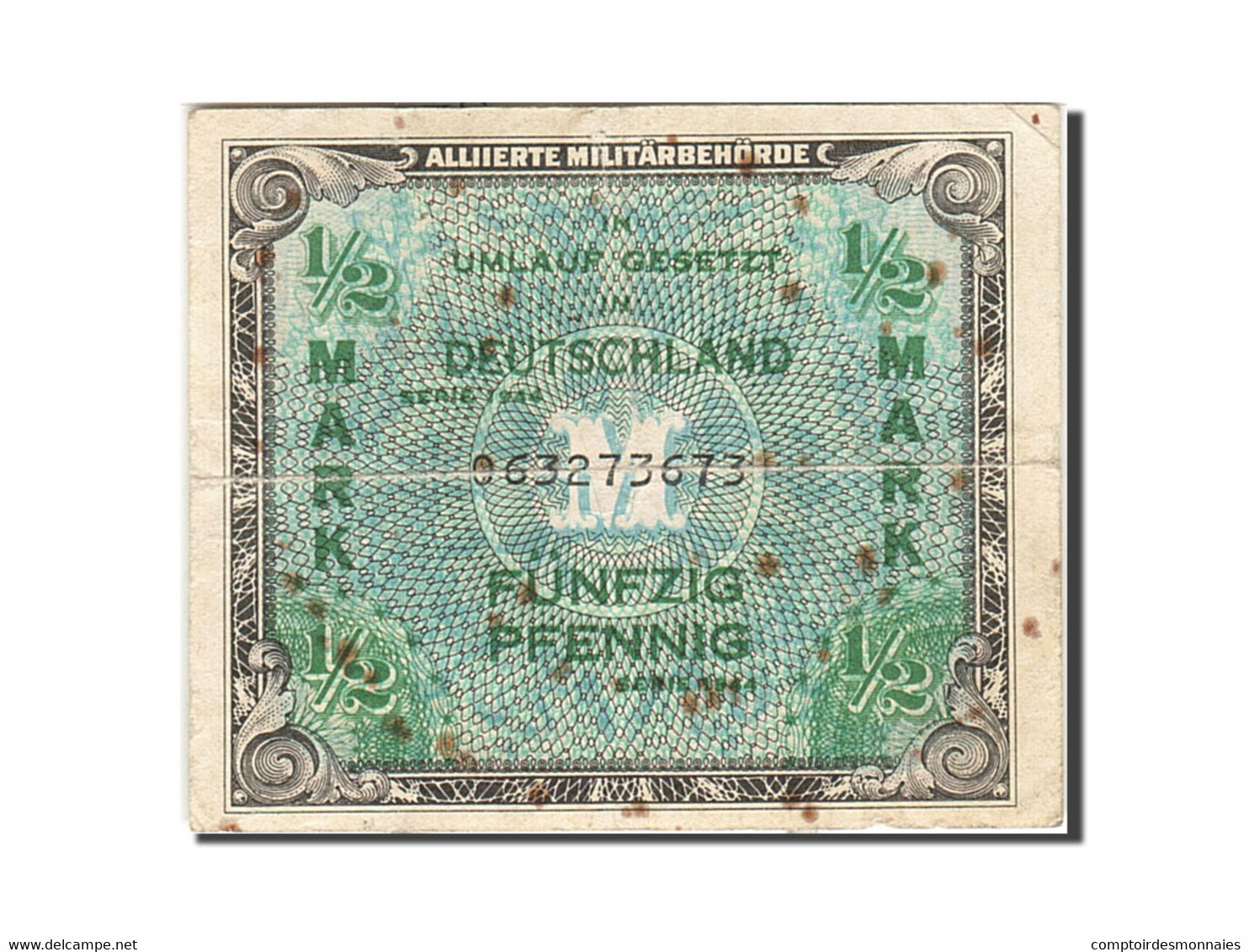 Allemagne, 1/2 Mark, 1944, KM:191a, Undated, B - [ 5] 1945-1949 : Occupation Des Alliés