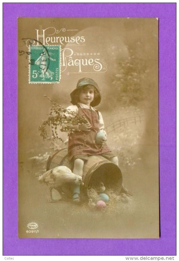 CPA  FANTAISE  ENFANTS  ~  60911/1  Heureuses Pâques  ( Amag  1914 ) - Fantaisies
