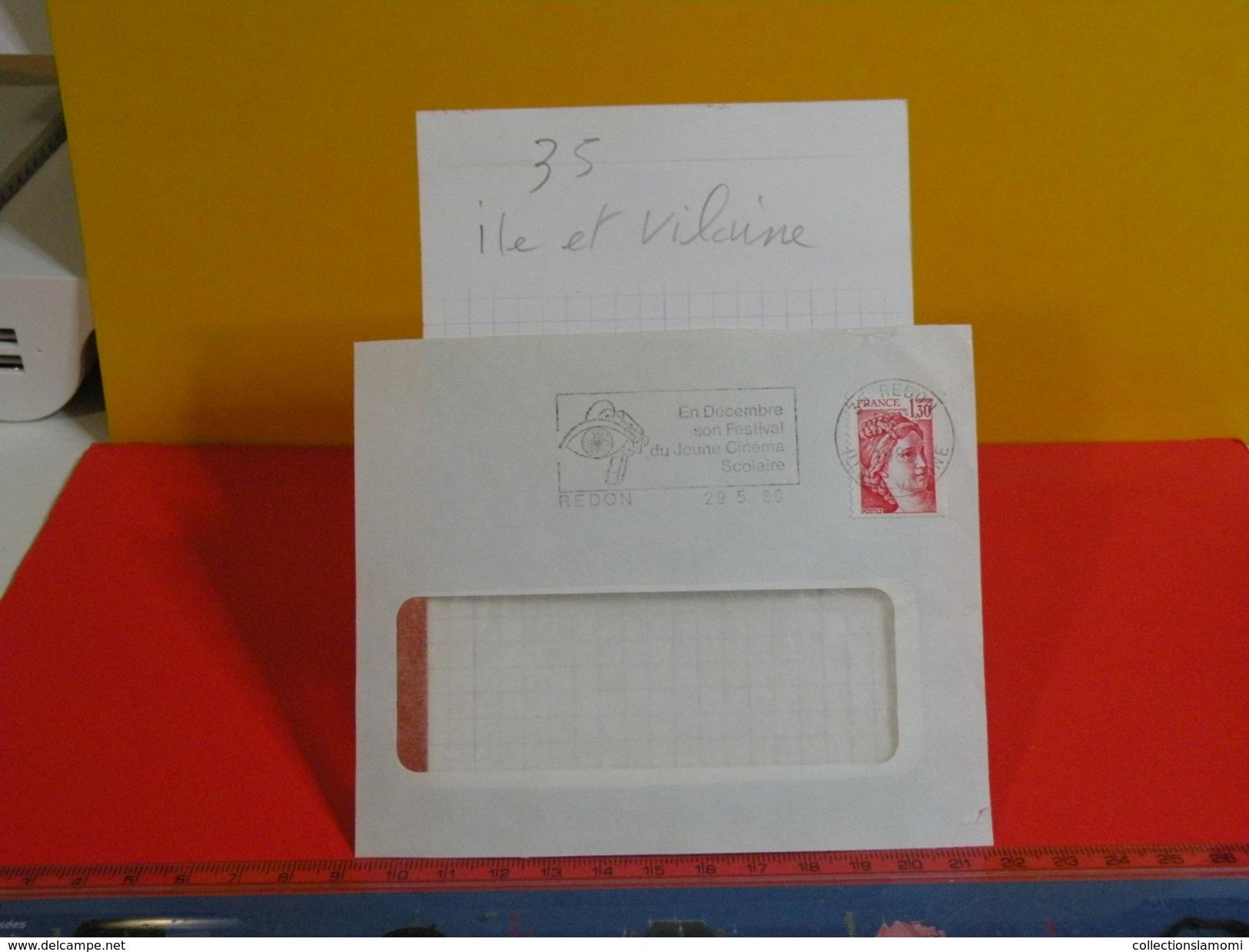 Marcophilie > Flamme > 35 Ile Et Vilaine > Redon - Festival Du Jeune Cinéma - 1980 - Marcofilie (Brieven)