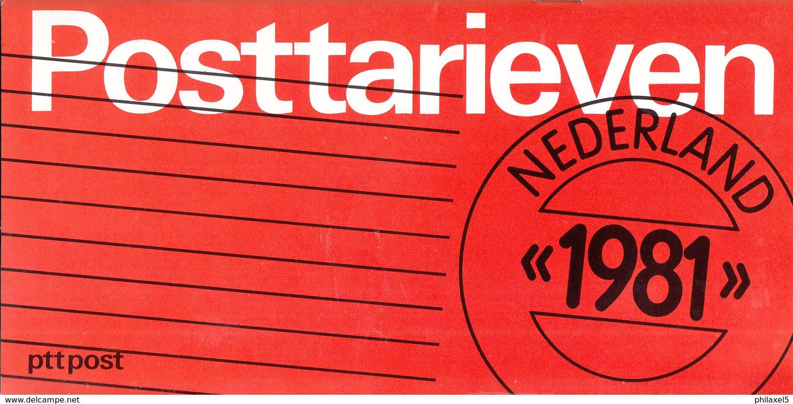 Nederland - PTT Post - Brochure Tarieven 1981 - 30 Pagina's - Nieuw Exemplaar - Tarifa De Correos