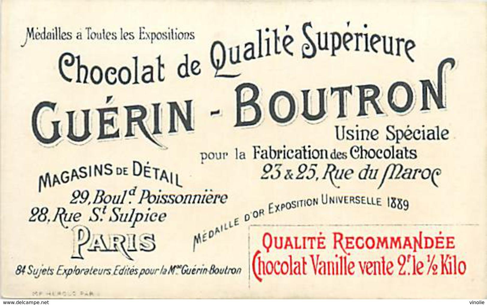 PIE-16-P - 2861 :  CHOCOLAT GUERIN BOUTRON. EXPLORATEUR ARMAND RECLUS PANAMA. DARIEN. - Guérin-Boutron