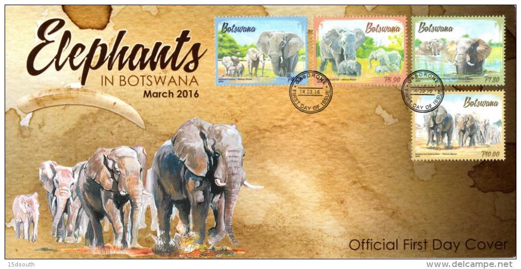 Botswana - 2016 Elephants FDC - Elephants