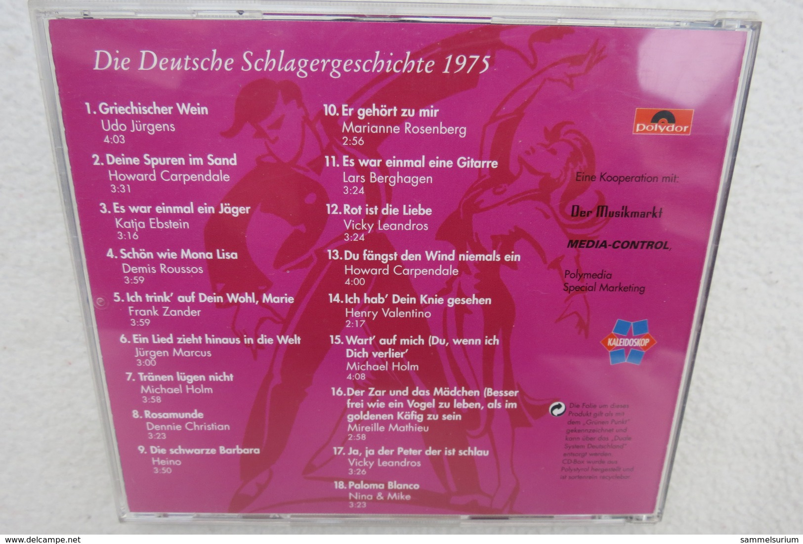 """CD """"Die Deutsche Schlagergeschichte 1975"""" Authentische Tondokumentation Erfolgreicher Dtsch. Titel Im Original 1959-1988 - Sonstige - Deutsche Musik"""