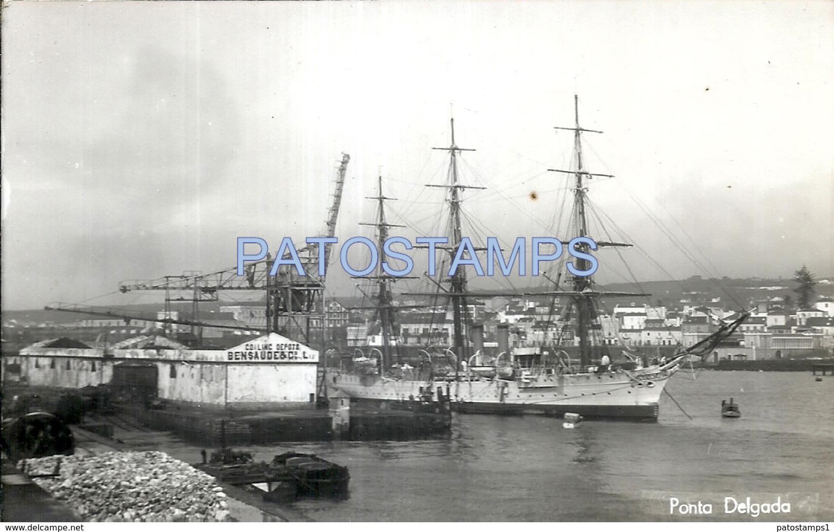 62339 CHILE PUNTA DELGADA PORT COALINC DEPOTS BENSAUDE & SHIP  POSTAL POSTCARD - Chile