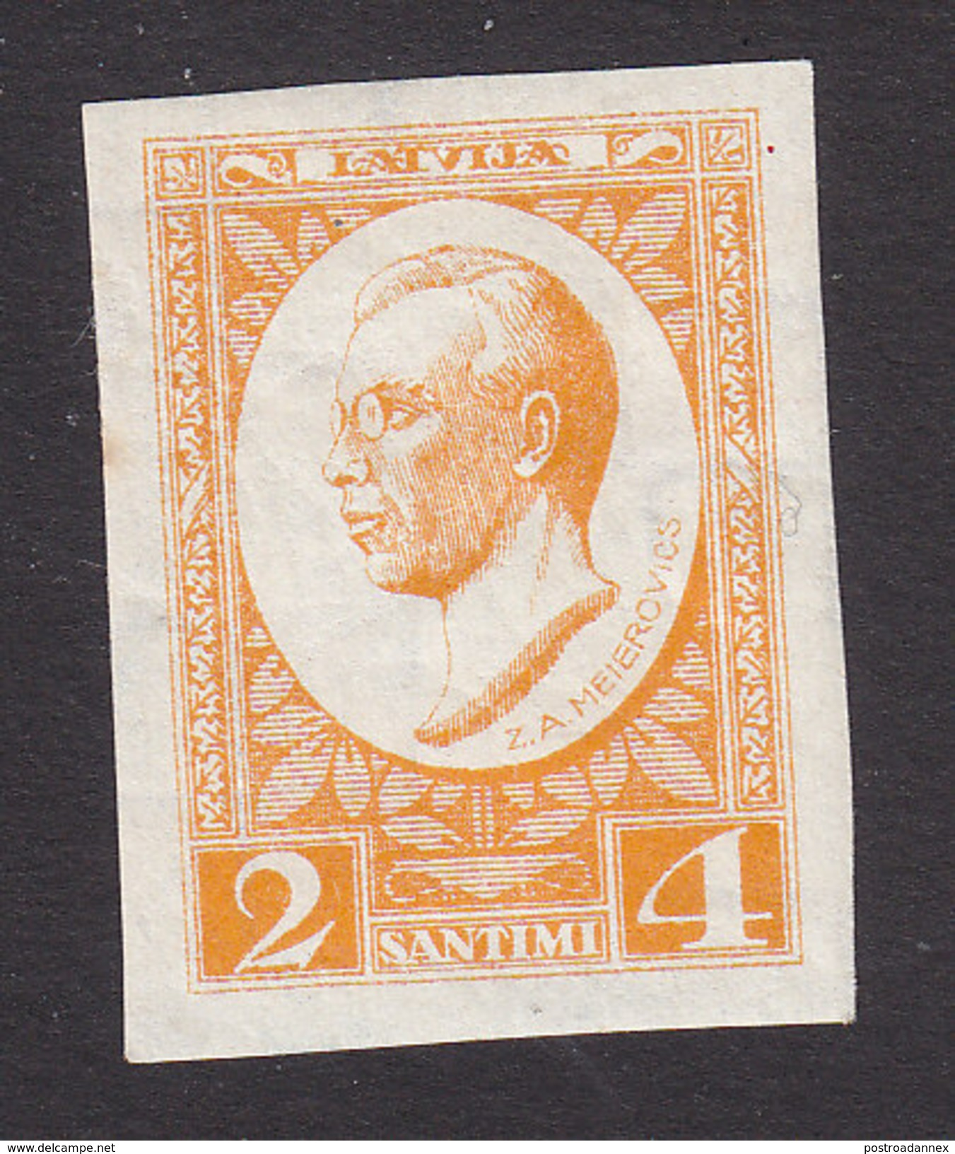 Latvia, Scott #B46, Mint Hinged, Z.A. Meierovics, Issued 1929 - Letland