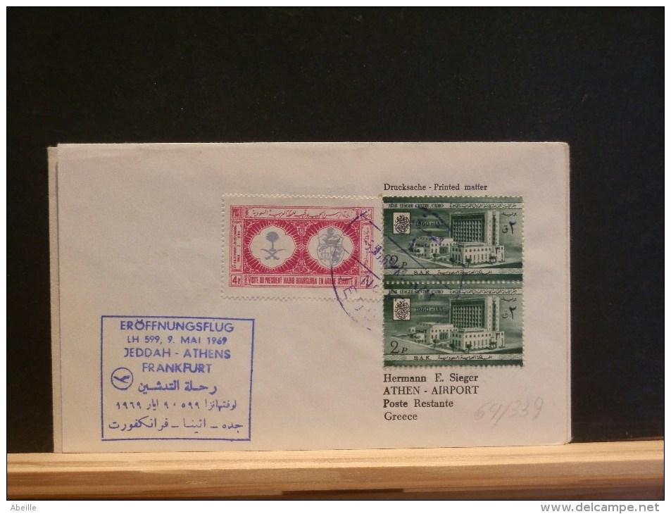 64/339  1° VOL  LUFTHANSA  1969 JEDDAH - Arabie Saoudite