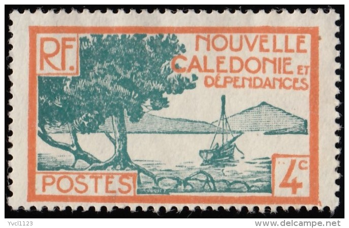 NEW CALEDONIA - Scott #138 Bay Of Palétuviers Point / Mint NG Stamp - New Caledonia