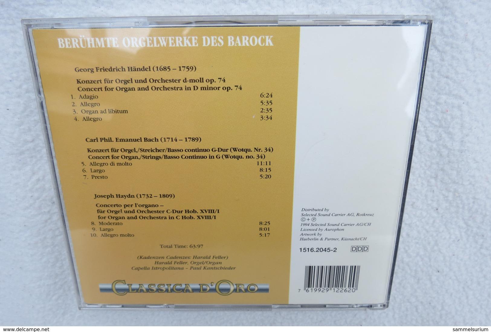 "CD ""Classica D´Oro"" Berühmte Orgelwerke Des Barock - Klassik"