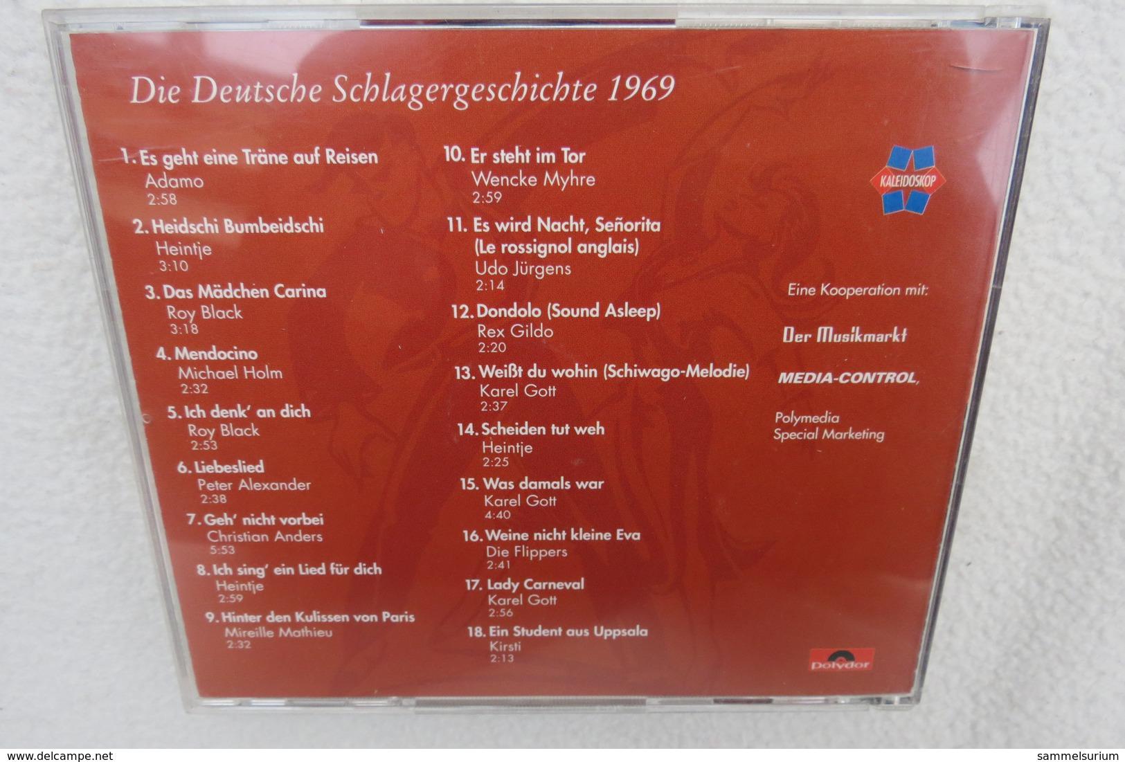 """CD """"Die Deutsche Schlagergeschichte 1969"""" Authentische Tondokumentation Erfolgreicher Dtsch. Titel Im Original 1959-1989 - Musik & Instrumente"""