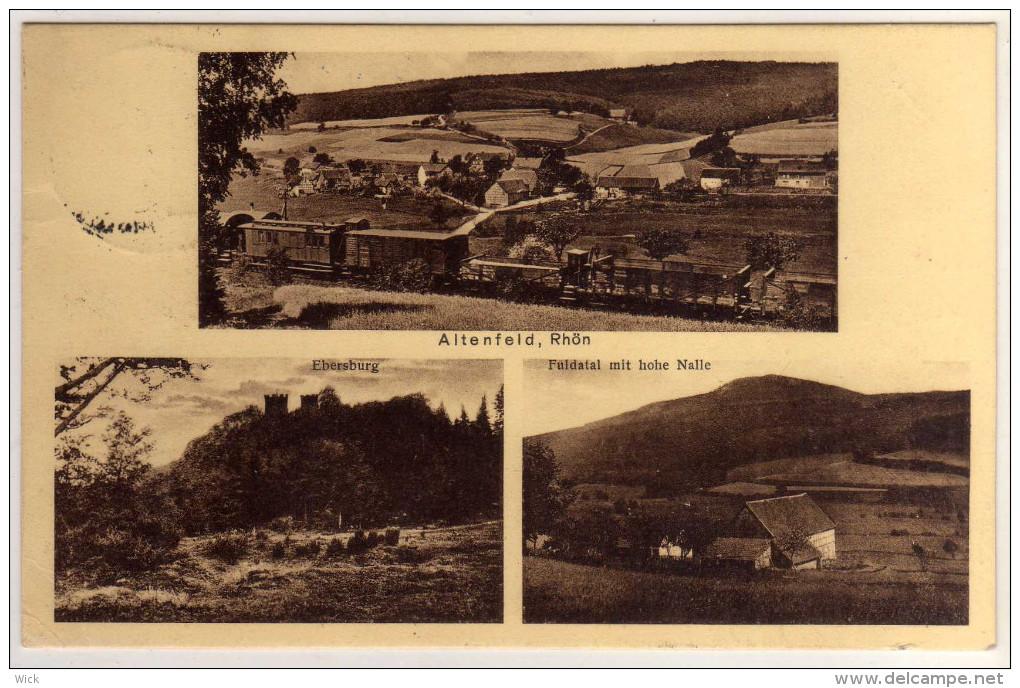 AK Altenfeld Rhön B. Motten, Gersfeld, Poppenhausen, Wüstensachsen, Herbstein, Schmalnau, Fulda, -mit EISENBAHN !!!!! - Rhoen