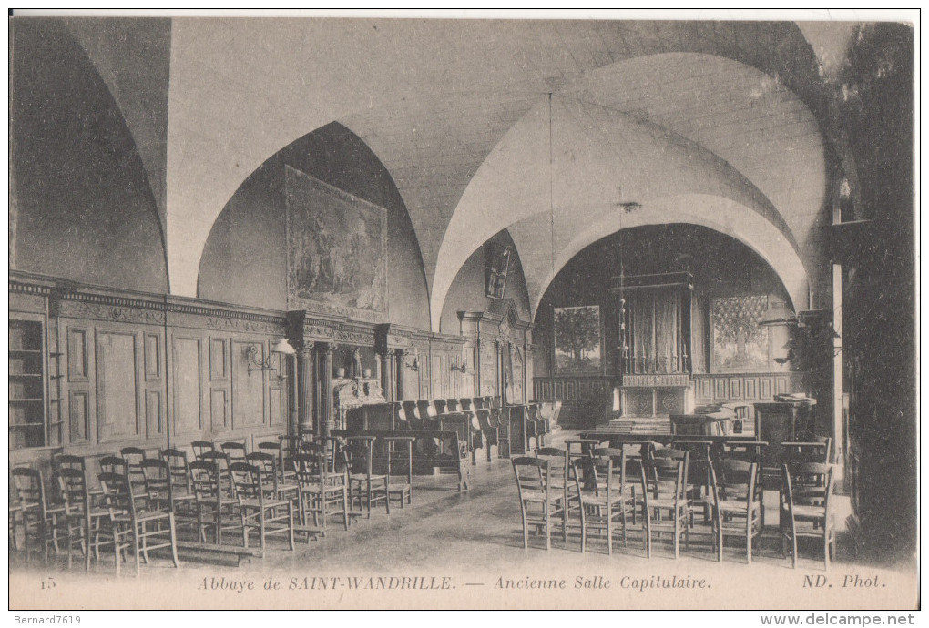 76 Saint  Wandrille Abbaye Ancienne Capitulaire - Saint-Wandrille-Rançon