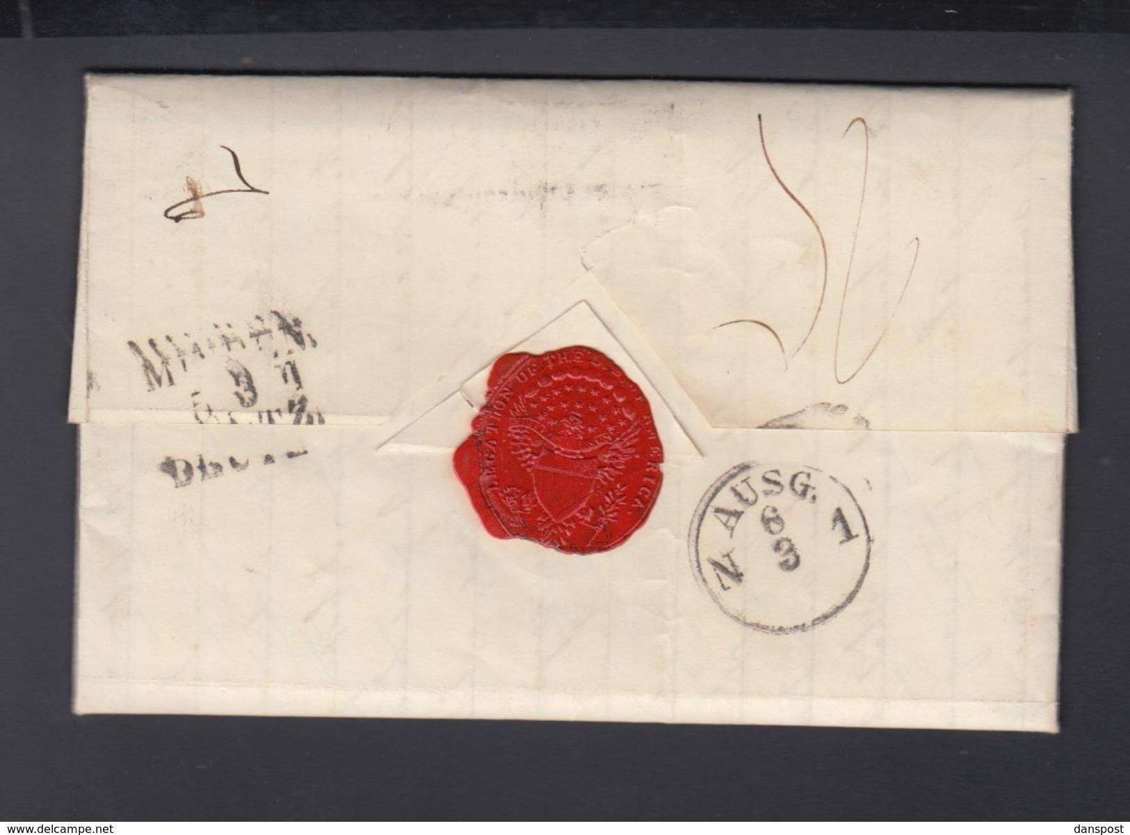 USA Brief August Belmont I Und Frau Caroline 1854 Als Botschafter In Haag An Schwester Bebette Feist - Autogramme & Autographen