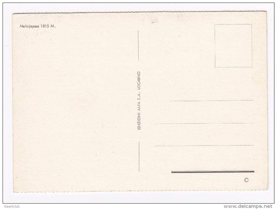Malojapass: VAUXHALL VIVA HB, OPEL REKORD-B, PEUGEOT 403  - 1815 M. - (Schweiz/Suisse) - Passenger Cars