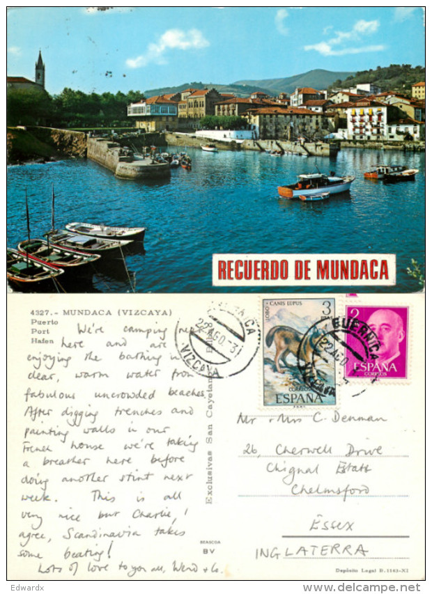 Mundaca, Spain Postcard Posted 1973 Stamp - Vizcaya (Bilbao)
