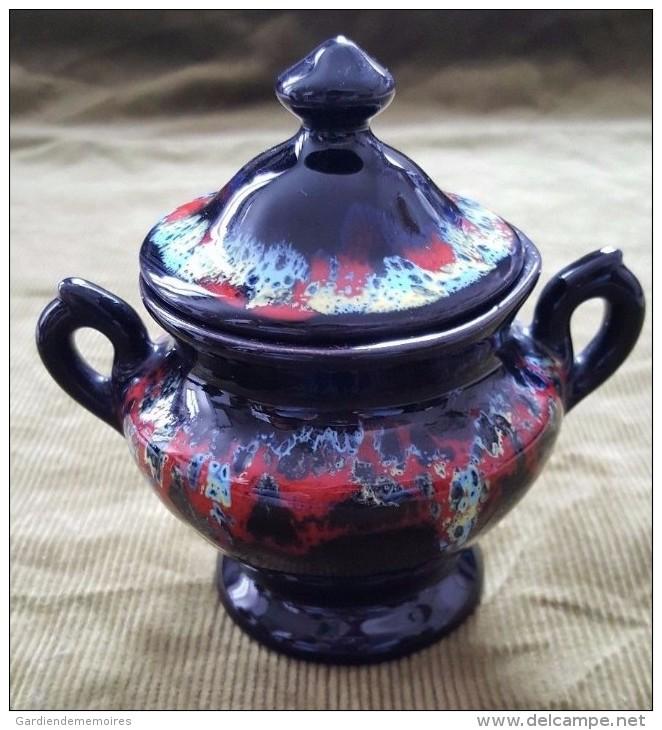Céramique De Vallauris - Pot à Lait - Sucrier - Théière - Vallauris (FRA)
