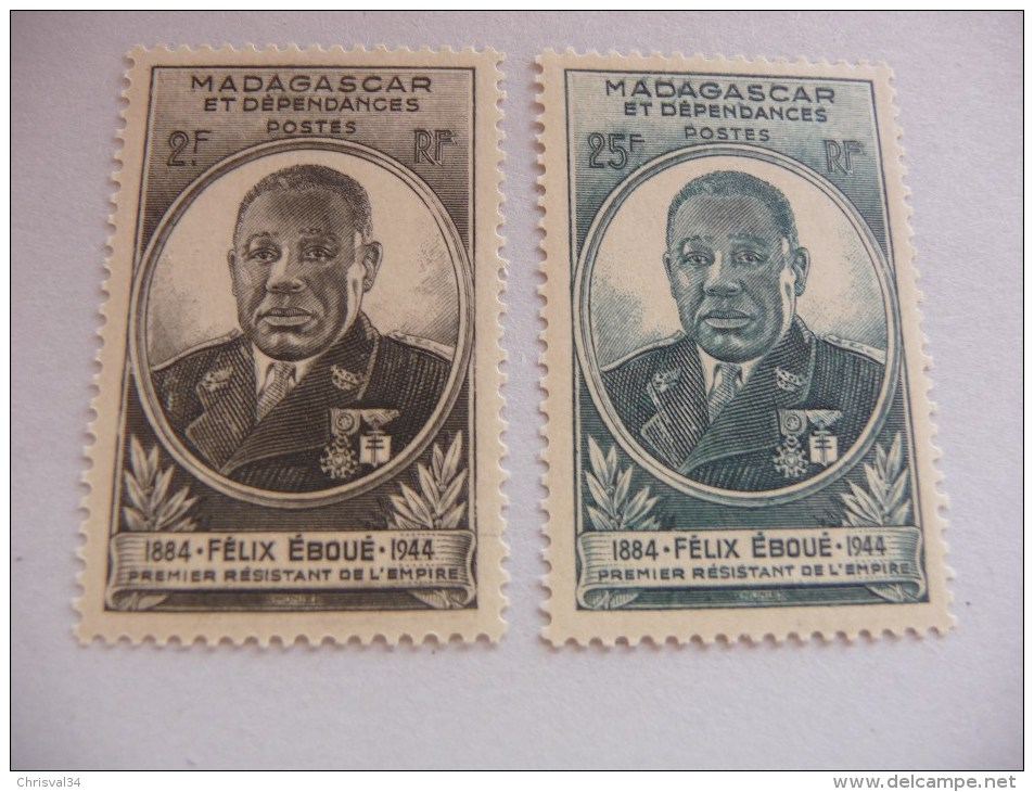 TIMBRES   MADAGASCAR    N  298 / 299   NEUFS  LUXE** - Madagascar (1889-1960)