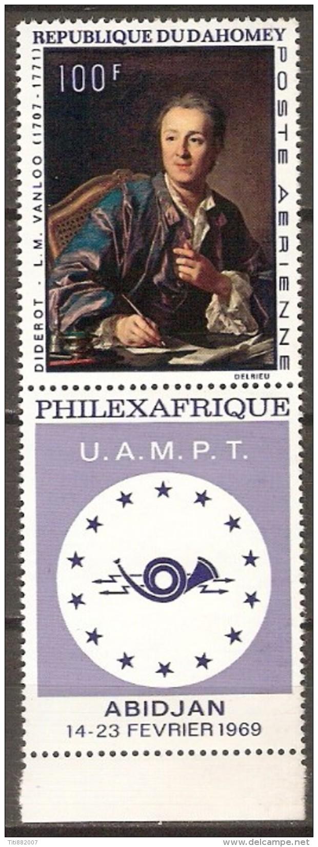 DAHOMEY   -   Aéro  -  UAMPT.  PHILEXFRANCE 14-23 Février 1969.  Abidjan.**. - Bénin – Dahomey (1960-...)