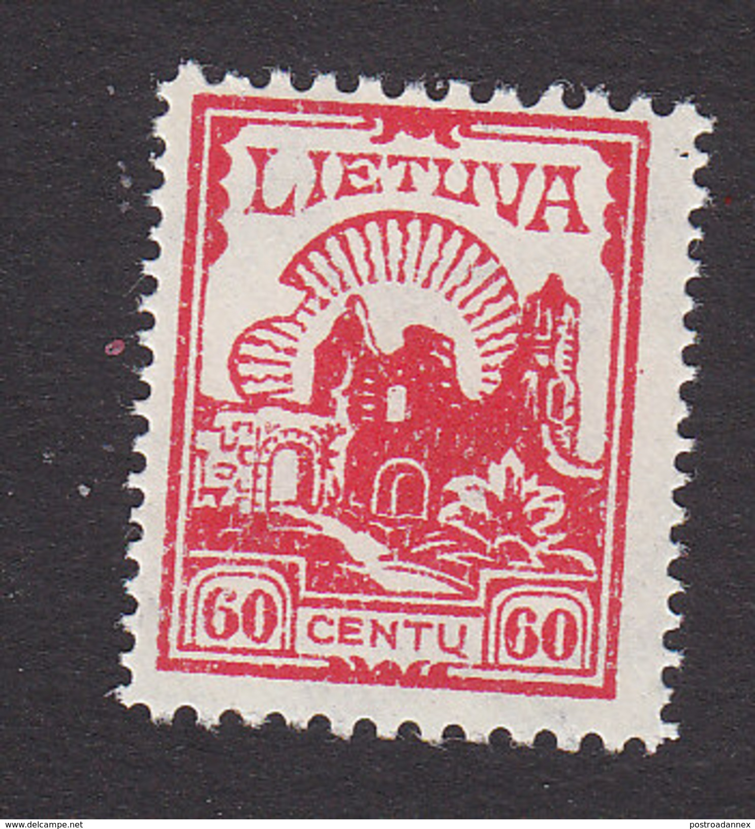 Lithuania, Scott #209, Mint Never Hinged, Ruins, Issued 1923 - Lithuania
