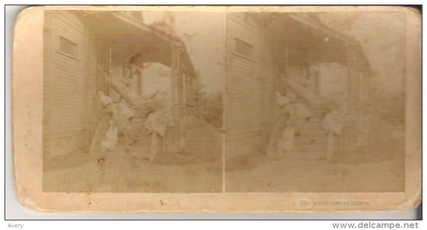 The Loved Ones At Home. - Stereoscope Cards