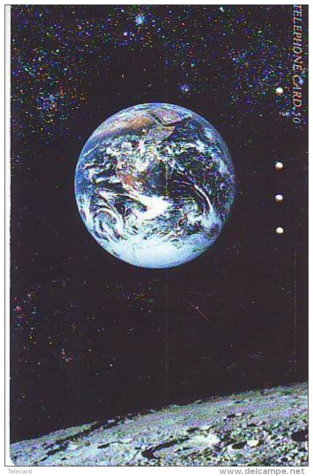 Télécarte Japon ESPACE (844)  GLOBE * SATELLITE * TERRESTRE * MAPPEMONDE * Telefonkarte Phonecard JAPAN * - Espacio