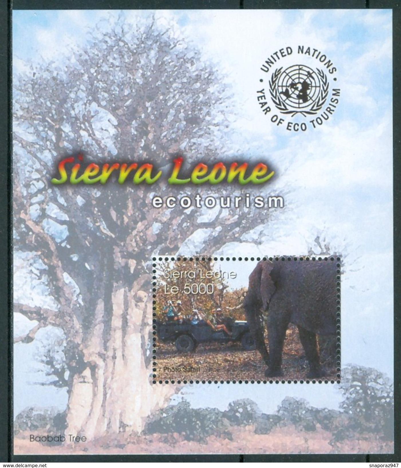 "2002 Sierra Leone International Year Of "" Ecotourism""  Elefanti Elephants Animali Animals Animaux  MNH** RR44 - Sierra Leone (1961-...)"