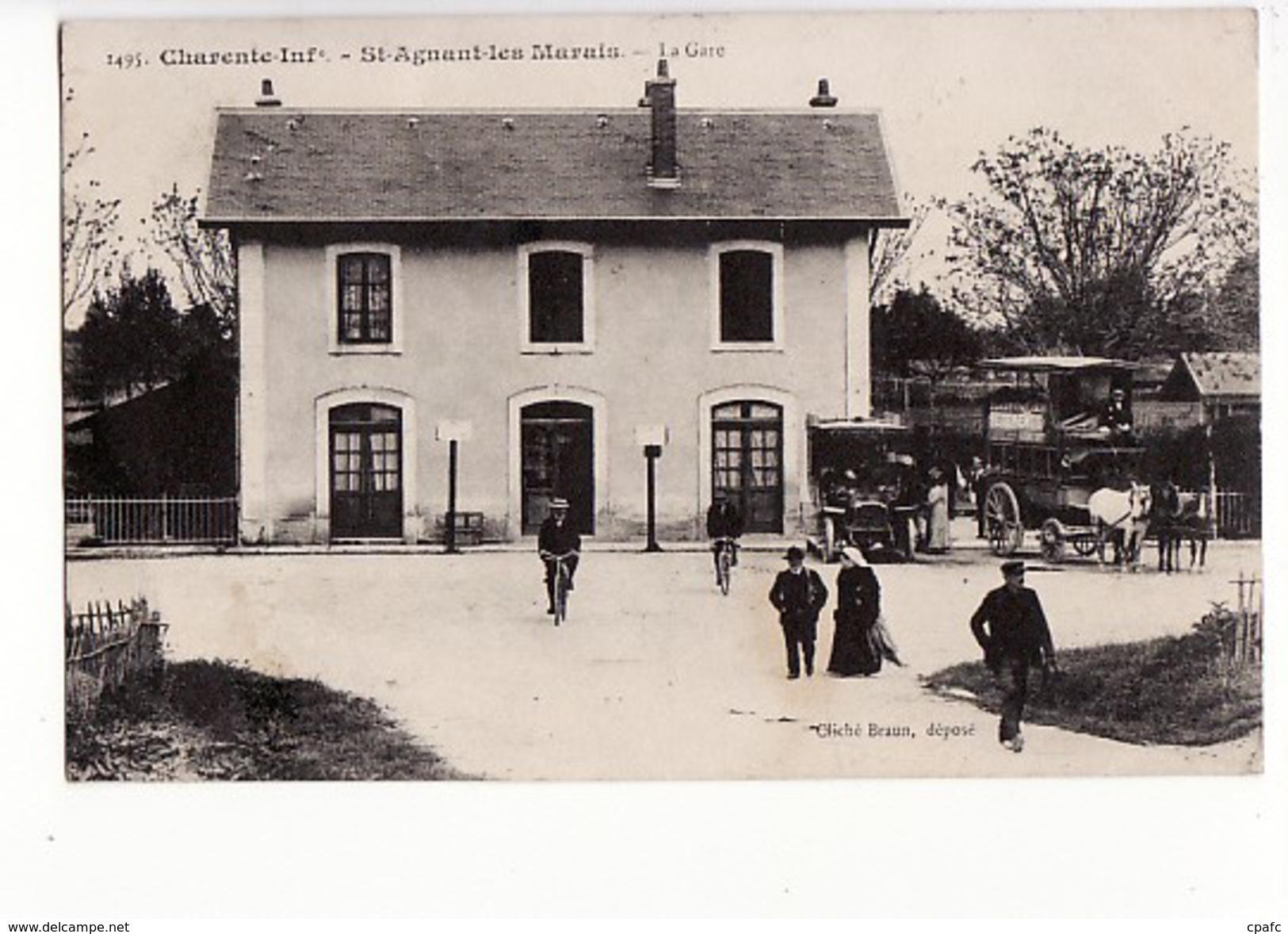 Saint Aignan Les Marais : La Gare / Editions Braun N°1495 - Andere Gemeenten