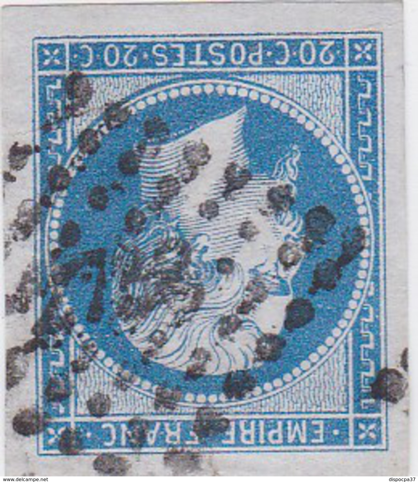 N° 14 A   PC  2733    ROSNAY L' HOPITAL  /  AUBE    - LOT 10332  - TRES BEAU BORD DE FEUILLE   INDICE 14 COTE 120€ - 1853-1860 Napoleon III