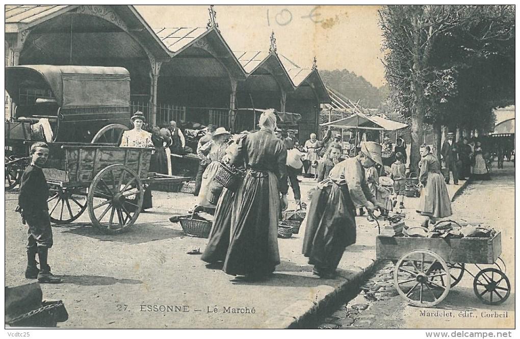 91-ESSONNES - LE MARCHÉ - Essonnes