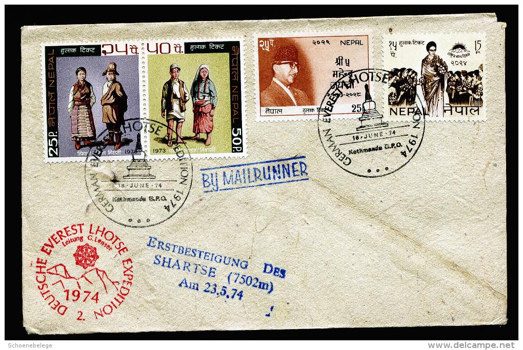 A4320) Brief Von Deutscher Everest-Expedition Nepal 18.6.1974 - Népal