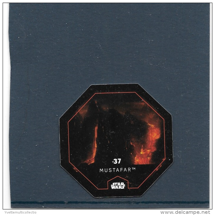 JETON 2015 COLLECTOR. STAR WARS ( LECLERC ). MUSTAFAR. N° 37 .COSMIC SHELLS - Episode II