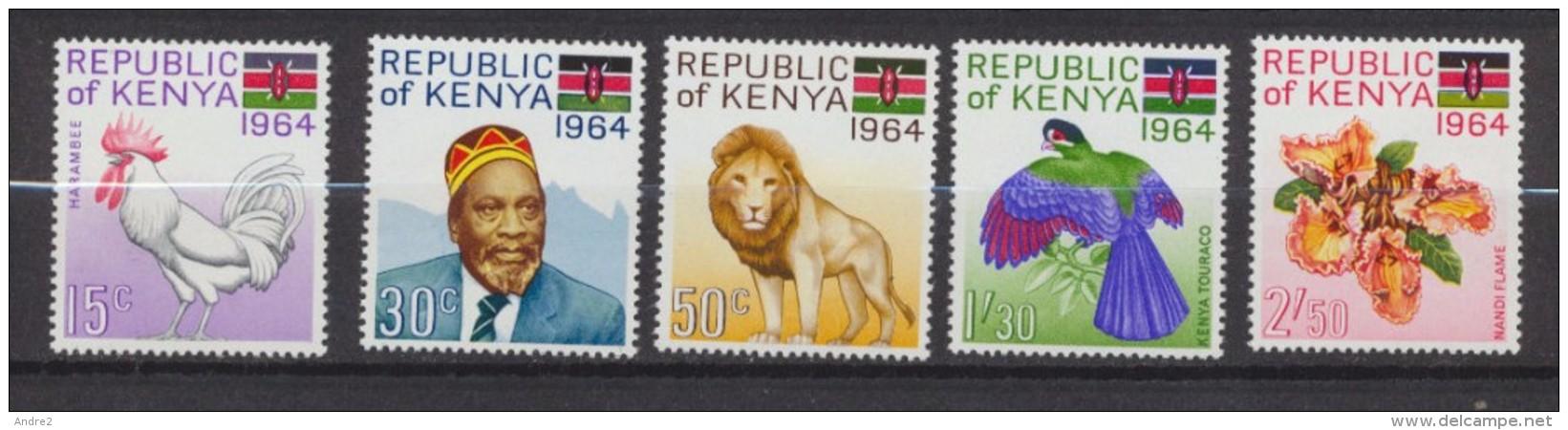 Kenya  1964  Proclamation De La République  * MLH - Kenya (1963-...)