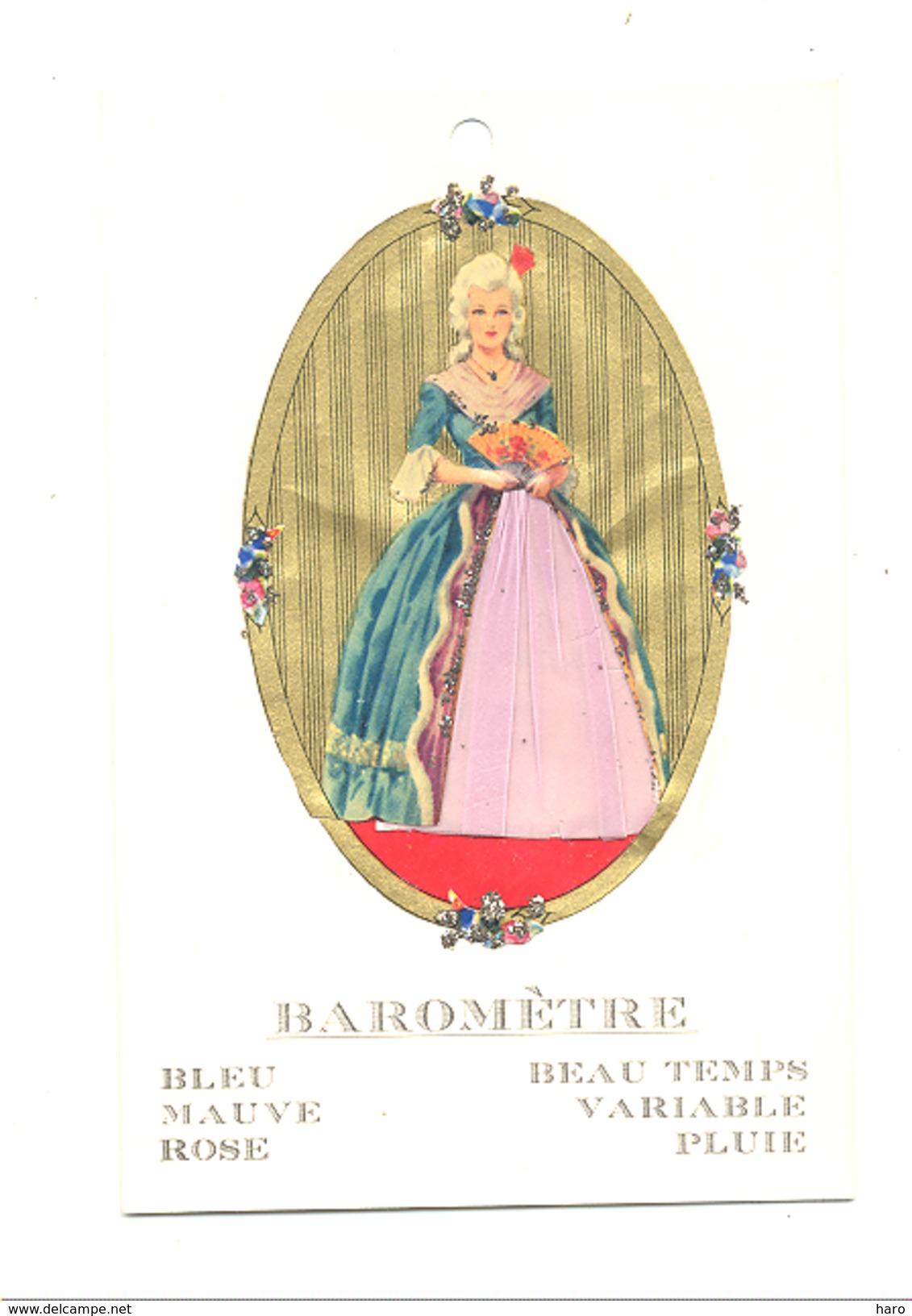 Carte Baromètre - Femme En Robe Changeant De Couleur En Fonction Du Temps - Découpis - Météo (lau) - Women