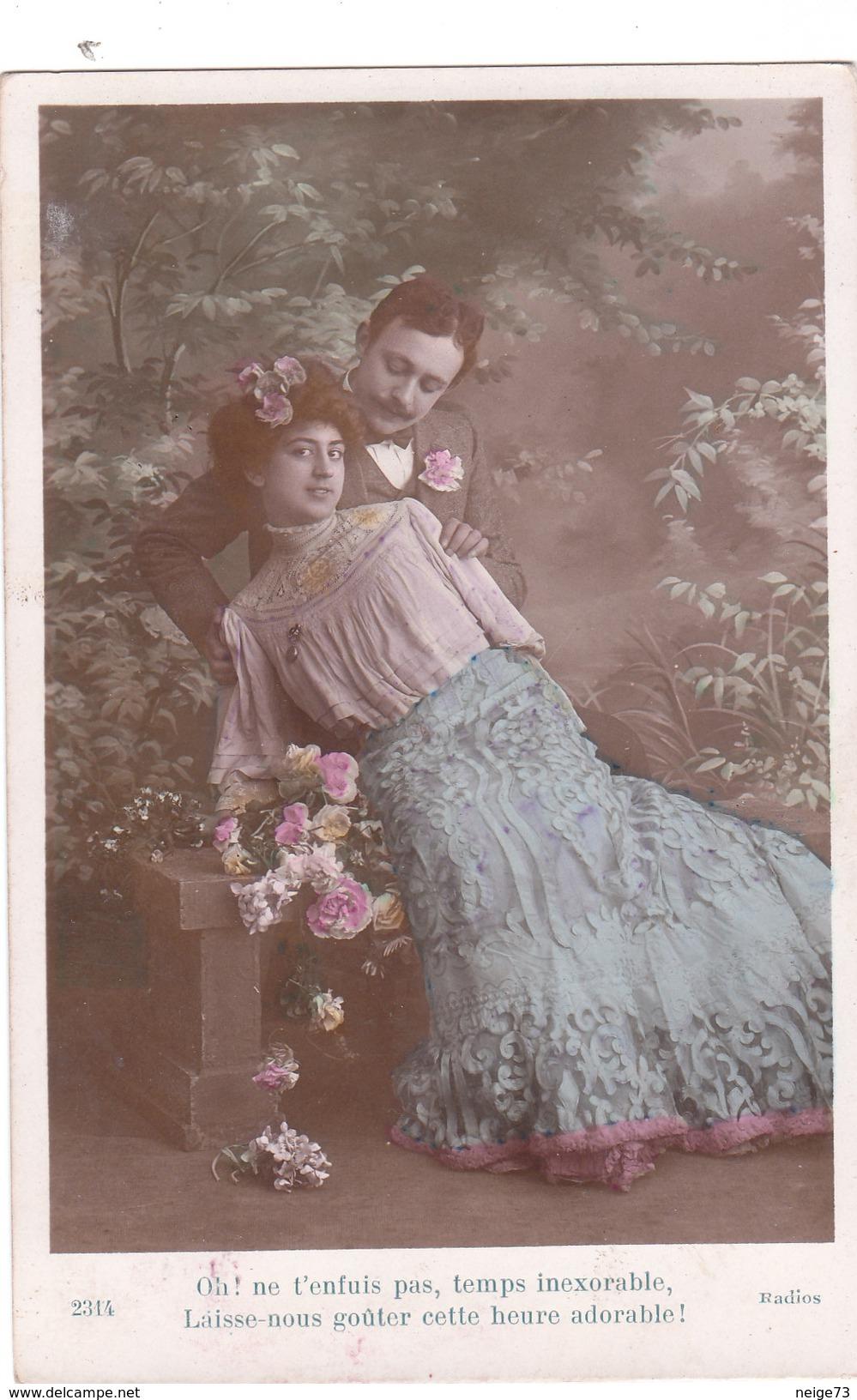 Carte Postale Ancienne Fantaisie -  Couple - Amoureux - Autres