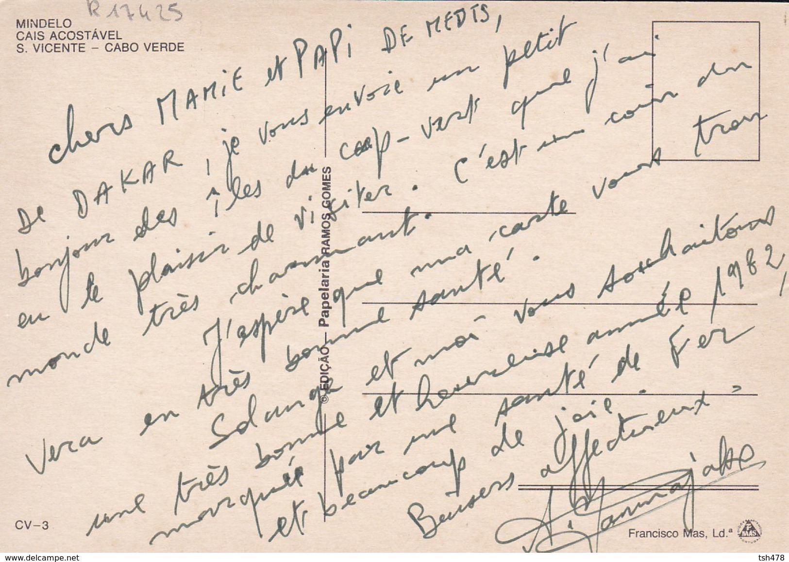 CAP VERT--CABO VERDE---MINDELO--cais Acostavel--s. Vicente--voir 2 Scans - Cap Vert
