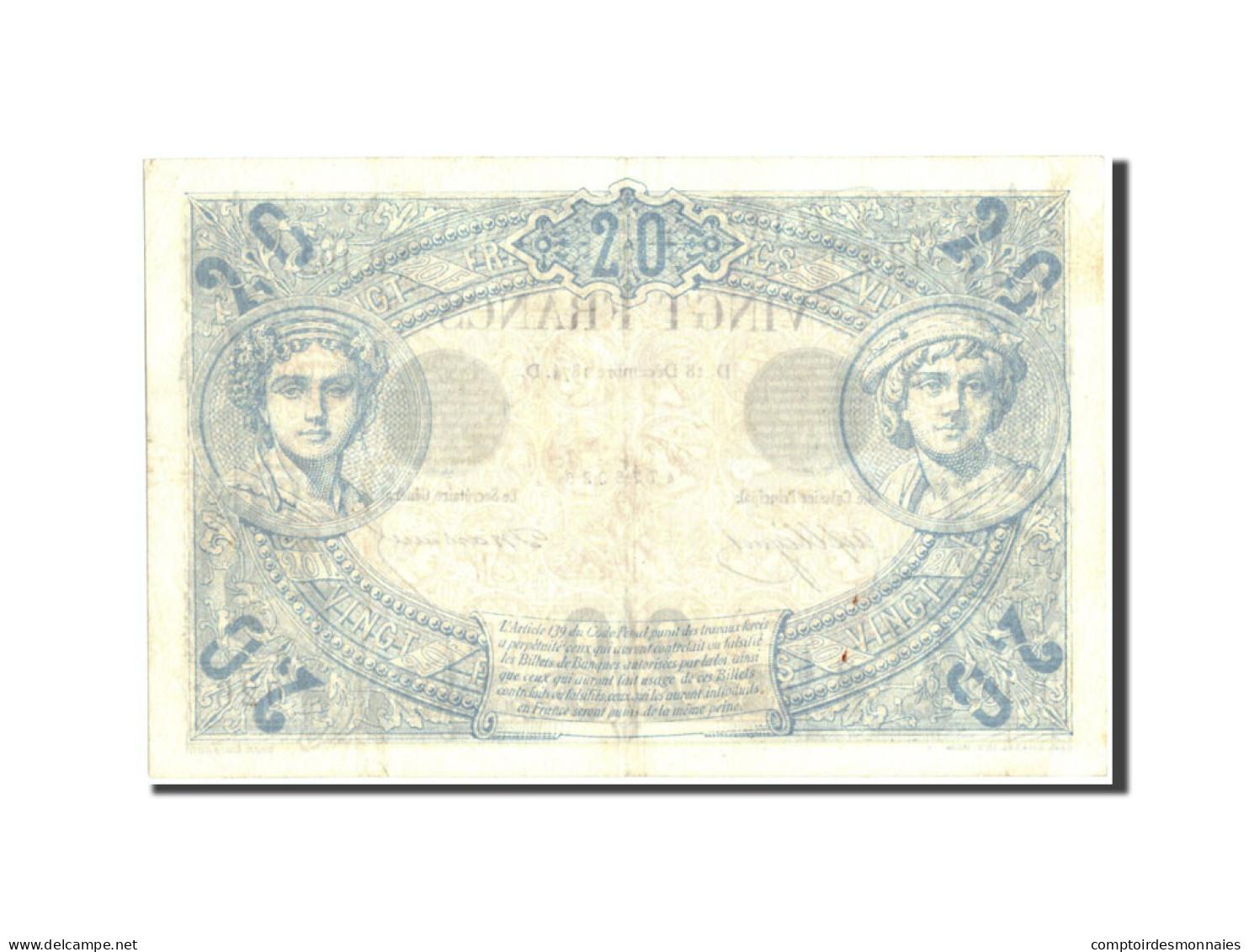 France, 20 Francs, 20 F 1874-1905 ''Noir'', 1874, 1874-12-18, KM:61a, TTB+ - 1871-1952 Antichi Franchi Circolanti Nel XX Secolo