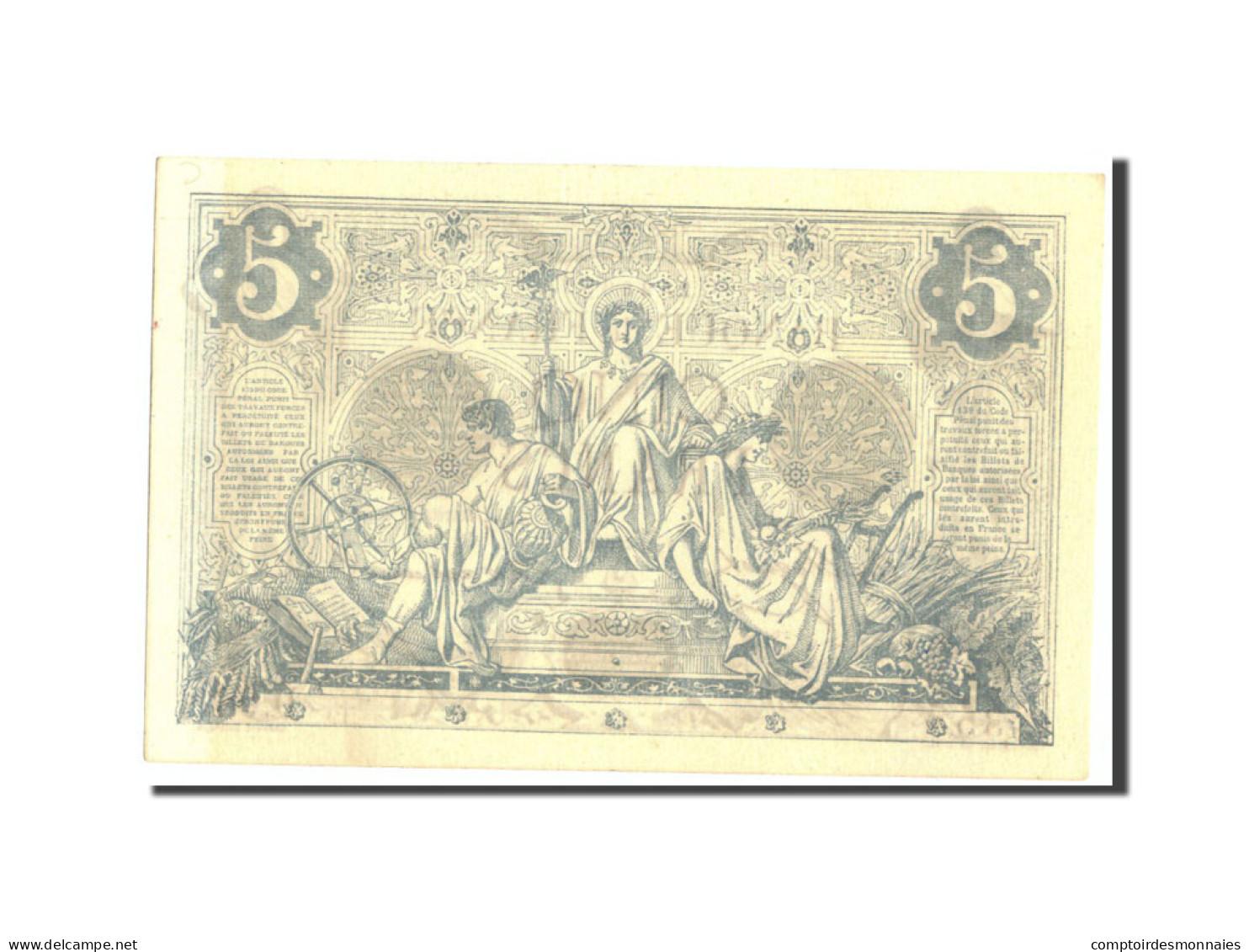 France, 5 Francs, 5 F 1871-1874 ''Noir'', 1872, 1872-01-11, KM:60, SPL - 5 F 1871-1874 ''Noir''