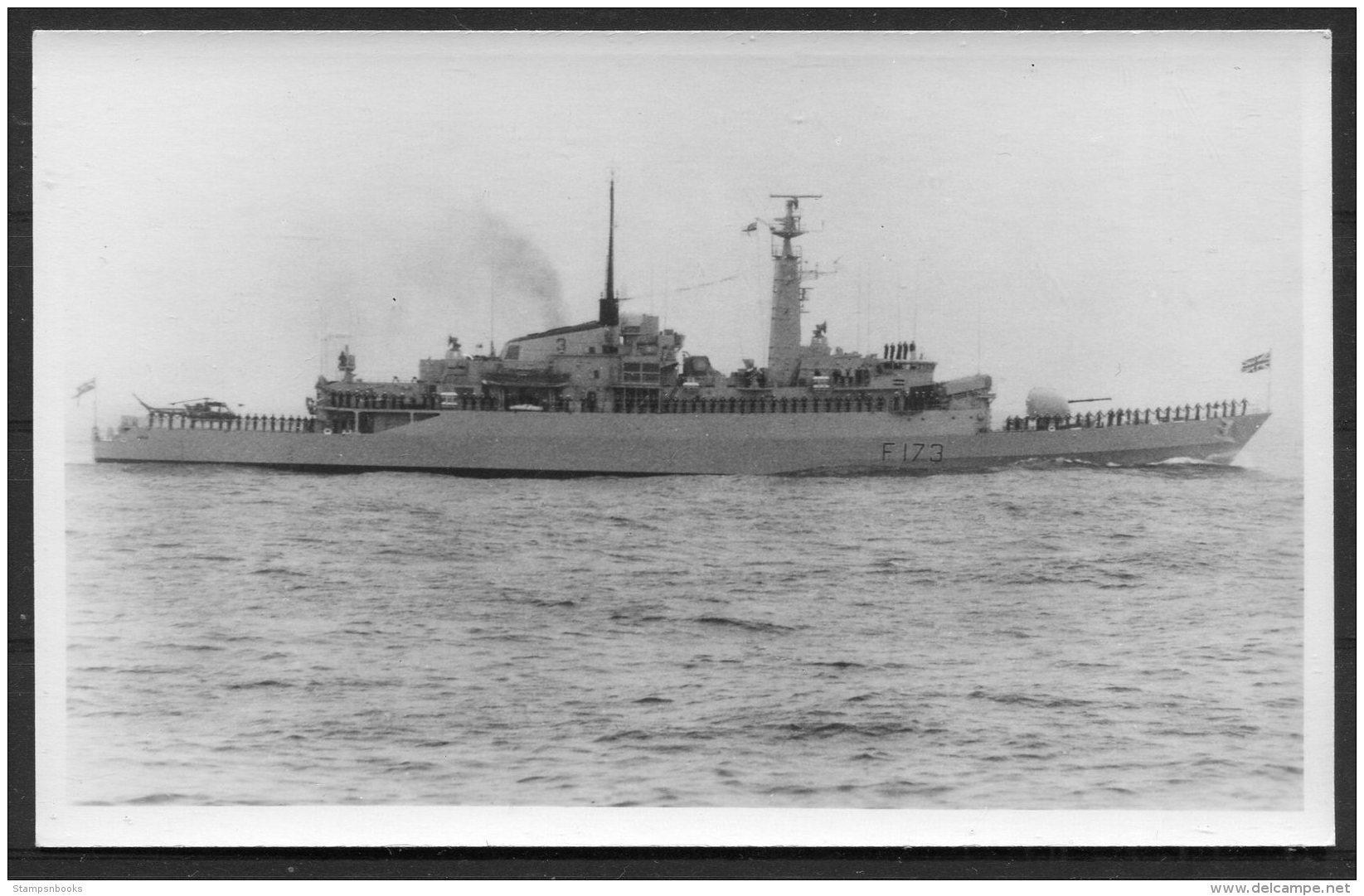 British Royal Navy Ship, Warship HMS Arrow. Droppel RP Postcard - Warships