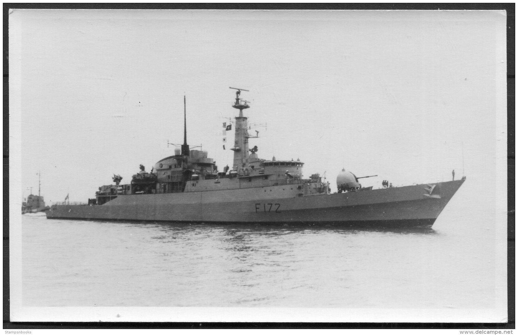 British Royal Navy Ship, Warship HMS F172 Droppel RP Postcard - Warships