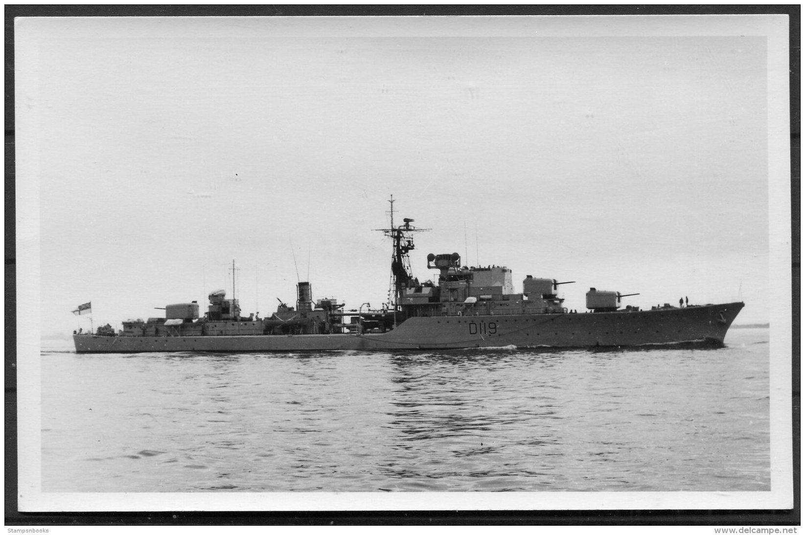 British Royal Navy Ship, Warship HMS Eskimo RP Postcard - Warships