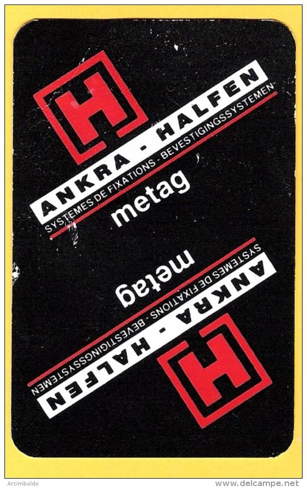2 Dos De Carte : Ankra Halfen - Metag - Systèmes De Fixations, Industrie - Kartenspiele (traditionell)